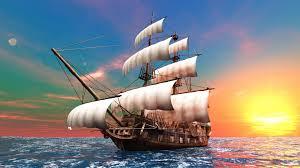 تحميل خلفيات الرسومات السفينة المراكب الشراعية البحر الماء