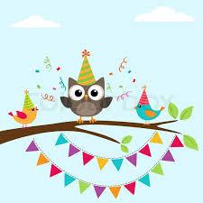 Vector Happy Birthday Greeting Card Stock Vector Colourbox