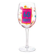 hallmark 60th birthday wine glass the