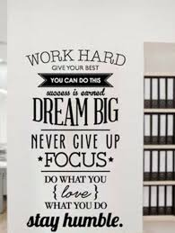 Work Hard Dream Big Stay Humble Removable Wall Decal Quote Stickers Decor Art Ebay