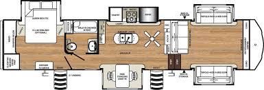 fifth wheel floor plans with 2 bedrooms