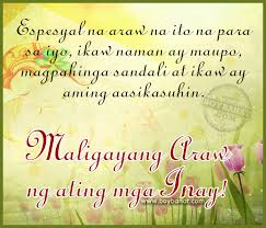tagalog mother s day quotes and pinoy happy mother s day sayings