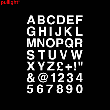 Car Accessories Alphabet Letters Numbers Personalized Custom Car Sticker Classic Vinyl Decals Vinyl Decal Car Accessoriescustom Car Stickers Aliexpress