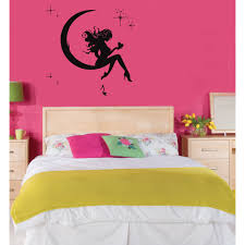 Shop Fairy Princess On The Moon Vinyl Wall Decal Overstock 8546441