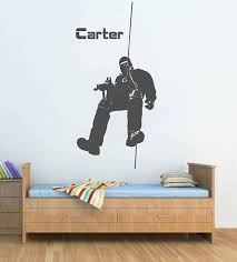 Amazon Com Soldier Wall Decal Soldier Wall Decor Soldier Wall Sticker Military Wall Decals For Boys Room Military Wall Art Stickers Decals Ik3777 Handmade