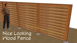Six Foot Tall Wood Privacy Fence Using Horizontal Tongue And Groove Fencing Youtube