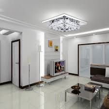modern square crystal ceiling lights