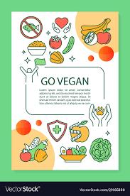brochure template layout go vegan
