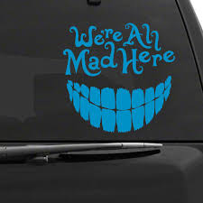 Alice In Wonderland Cheshire Cat Car Decal In 2020 Car Decals Cheshire Cat Alice In Wonderland Alice In Wonderland