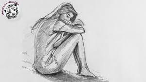 Como Dibujar un Chica Triste Paso a Paso | como dibujar personas ...