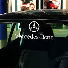 Graphic Vinyl Rear Window Car Sticker Door Decal Emblem For Mercedes Smart 10 Ebay