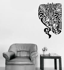 Vinyl Decal Wall Sticker Maori Design Mask Tattoo Style Decor N1294 Ebay