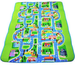kids rug play crawling mat for toy cars