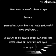 never take someone s sile quotes writings by almash rifad