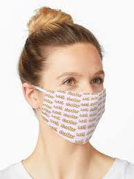 """west chester glitter cursive"""" Mask by juliasantos5 