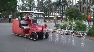 christmas holiday golf cart parade