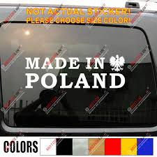 Made In Poland Decal Sticker Car Vinyl Polska Polish Eagle Funny Pick Size Car Stickers Aliexpress