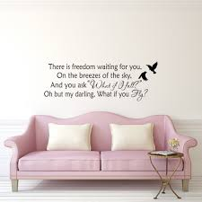 There Is Freedom Waiting For You Wall Decal Quote Erin Hanson Etsy Wall Quotes Decals Kids Room Murals Wall Decals