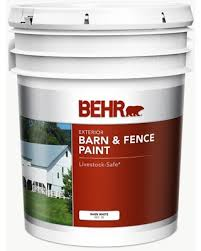 Don T Miss Sales On Behr 5 Gal White Exterior Barn And Fence Paint