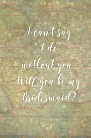 Will You Be My Bridesmaid 4x6 Vintage Map Printable | Etsy
