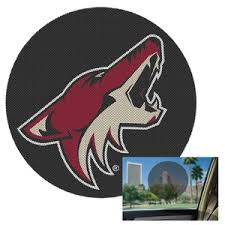 Phoenix Coyotes Perforated Shade Decal At Sticker Shoppe