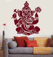 Vinyl Wall Decal Indian Elephant God Hinduism Religion Stickers Unique Wallstickers4you