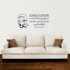 Education Is Not The Learning Albert Einstein Inspirational Quote Wall Decal Study Phrase Fanndy