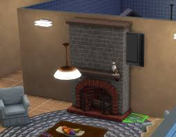 placing tv over fireplace the sims
