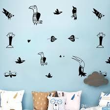 Diy Cute Creative Animal Cartoon Birds Wall Stickers Mural Wallpaper Waterproof Removable Vinyl Decal Kids Room Living Room Home Decoration Wall Word Stickers Wallpaper Decal From Fst1688 7 9 Dhgate Com