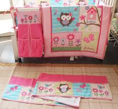 baby bedding set embroidery owl