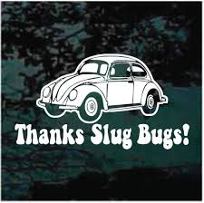 Thanks Slug Bug Volkswagen Car Decals Stickers Decal Junky