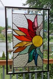 stained glass panel window hanging