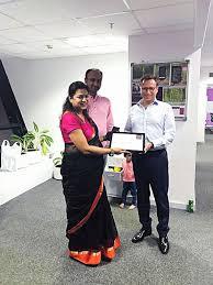 Aditi Agarwal receiving her 6... - OSTC Office Photo   Glassdoor