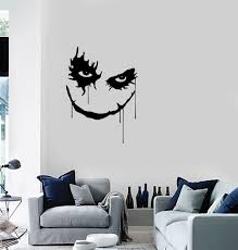 Wall Vinyl Sticker Joker Smile Scary Horror Fiction Home Unique Gift D Wallstickers4you