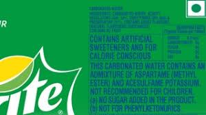 understand the label coca cola india