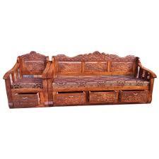 wooden sofa set at rs 35000 set