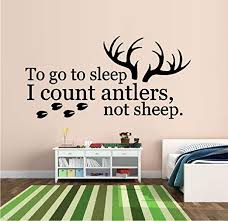 Amazon Com Bestpriceddecals To Go To Sleep I Count Antlers Not Sheep 22 Wall Decal 20 X 40 Lrg Home Kitchen