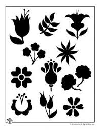 printable flower stencils templates