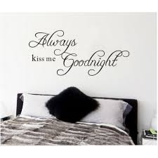 Always Kiss Me Goodnight Wall Quotes Stickers Nursery Lettering Wall Stickers For Nursery Room 8097 Wall Sticker Letter Wall Stickerswall Quotes Stickers Aliexpress