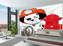 Amazon Com Lcggdb Fireman Wall Mural Decal Dalmatian Firefighter Puppy Removable Large Wall Mural For Livingroom Bedroom Nursery School Family Wall Decals 118x83 Inch Posters Prints