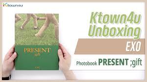 unboxing exo photobook present gift