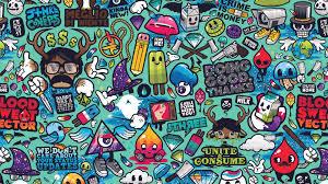 pattern ilration graffiti wallpaper