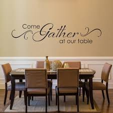Come Gather At Our Table Decal With Scroll Design Dining Etsy In 2020 Dining Room Decal Kitchen Wall Decals Dining Room Wall Art