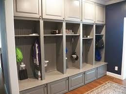 Custom Gray Mudroom Lockers For Busy Cincinnati Family Traditional Kids Cincinnati By Transformations Custom Wood Design Houzz Au