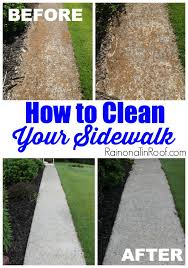 how to clean a sidewalk
