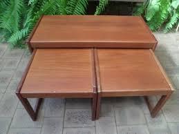 mid century retro coffee table has two