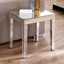 venetian mirrored medium side table