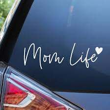 Amazon Com Blue Giraffe Mom Life Car Decal 7 Cute Bumper Sticker For Your Car Automotive