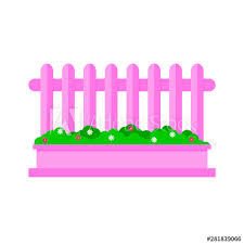 Cartoon Garden Fence Isolated On White Background Vector Illustration In Flat Style Eps 10 Buy This Stock Vector And Explore Similar Vectors At Adobe Stock Adobe Stock