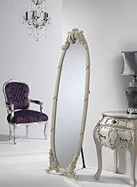 full length antique cream dress mirror